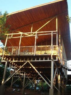 Guest house from jungle floor 30 feet below