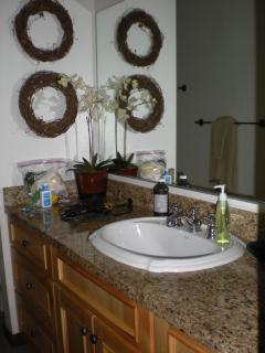 Master bathroom granite vanity