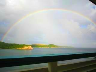 Rainbow Greeting Upon Arrival