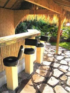 22\' Tiki Bar with Gas BBQ & Marble Counters