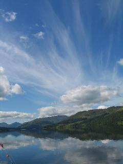 beautiful sky over Loch Katrine taken from the SS Sir Water Scott