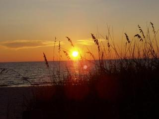 Beautiful Sunsets  Across the Street at the Beach!