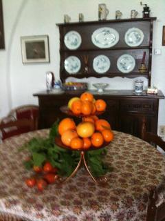Sicilian citrus fruit in the kitchen