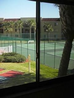 Tennis courts from bedroom window