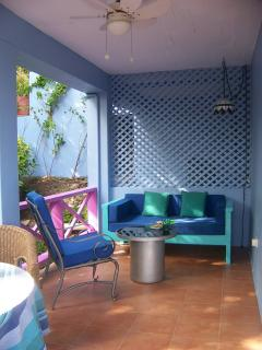 private dining terrace and perfect reading area