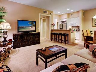 Living area is open to kitchen and dining area.  Ko Olina Resort, Oahu, Hawaii