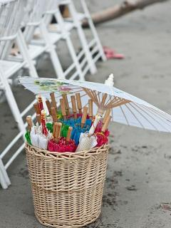 Beach Wedding Details - Umbrellas - Photography by Comfort Studios