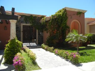 Front entrance of villa