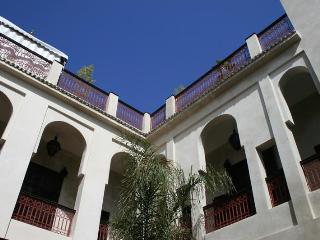Looking up at Riad Africa