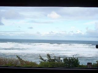 Newport, Oregon Coast bluff cottage, Stunning VIEW, dog-friendly!
