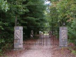 Gated Entrance to Castle McKenzie takes you through our enchanted forest and up to Castle McKenzie.