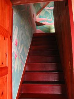 stairway to the bedroom