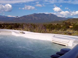 What a hot tub! 50 jets, waterfall and oh, the view is not bad either.