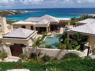 Positioned on a slight hill, overlooking Sandy Hill Bay. MD BOP, Anguilla