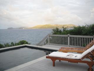New deck teak lounges