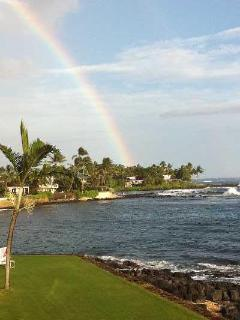 From lanai looking East at Rainbow