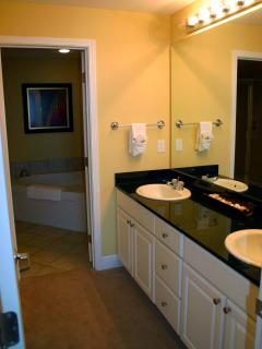 Double Sinks; Walk-In Closet behind the Sinks
