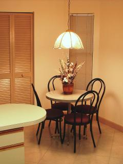 Besides your dinning room, the kitchen has a breakfast nook.