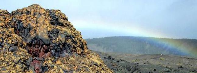 Lava Cone and Rainbow, Volcano National Park