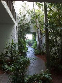 Walkway to condos