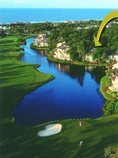 Great view of lagoon and golf course and near the ocean