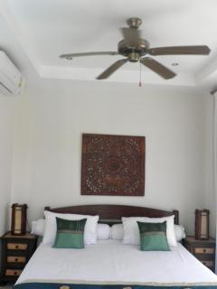 Master bed In Guesthouse with Ceiling Fan