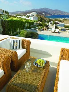 Villa Galaxy exterior: Main veranda living area view
