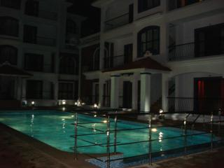 Swimming pool night view in its splendour