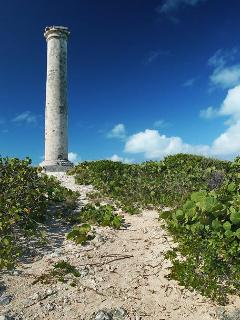 The island marker on Little Exuma