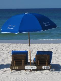 Book Early & get a OUR reserved set of veach chairs with umbrella...FREE