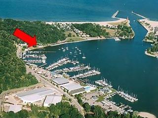 Location on Lake Macatawa next to Lake Michigan