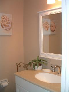 Second Bathroom in Hall, with Shower and seat