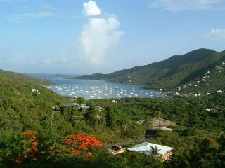 Located at the end of a paved private road with beautiful views of the harbor and surrounding hills.