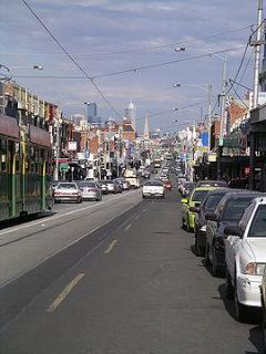 Sydney Road 'village'. The CBD in the background is only 4kms away