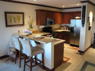 Kitchen stocked with stainless steel appliances