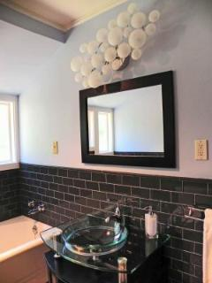 Modern Vanity and all new tile