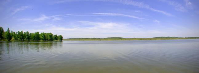 Soustons lake bordered by pine forest - watersports centre for sailing, windsurfing, rowing, fishing