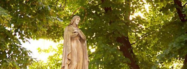 Statue in churchyard