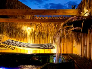 Exotic Terrace:Jacuzzy, Cascade and Hamaca for You to Relax