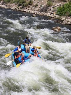 White water rafting is available nearby