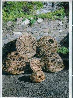 Willow crab pots made by Sue