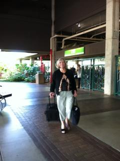 Sally Sellar Reed arriving in Lihue