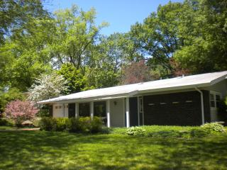 Exterior of Home With Spring Blossoms