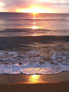 Great sunsets await you in the front of our condo