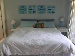 Upstairs - King Bed in Master Bedroom, has lanai, lots of closet space and ensuite bathroom!