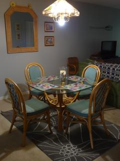 Downstairs - Dining Area, There's Also a Card Table & Chairs for Extra Seating