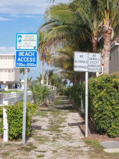 Beach access is half a block away!