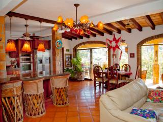 Kitchen and Salon opens to the Terrace with views of the River Cuale, Pacific Ocean, Jungle, Mountain and City