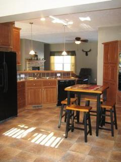 Ultimate kitchen with extra seating for 4
