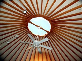 Ceiling dome and skylight in the Sanctuary Suite.